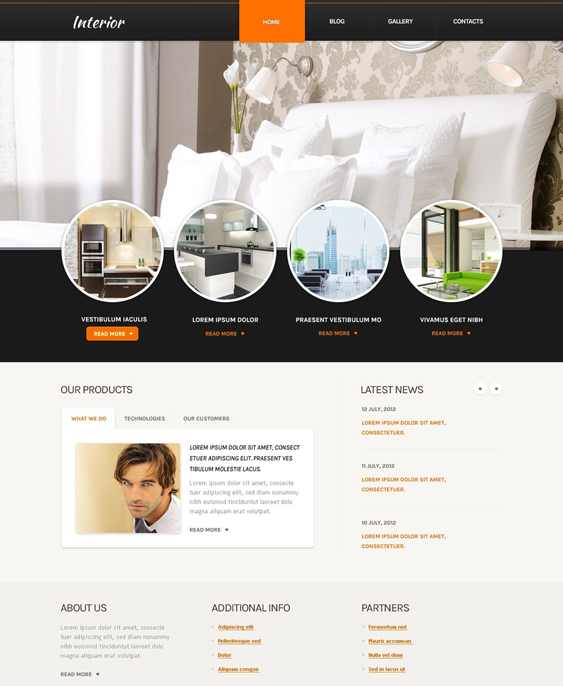 home remodeling construction contractor drupal themes