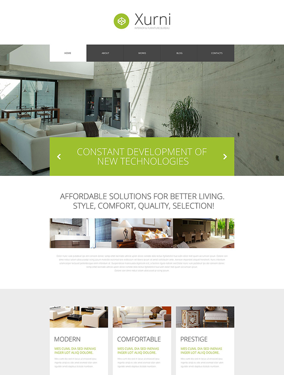 interior wordpress furniture themes