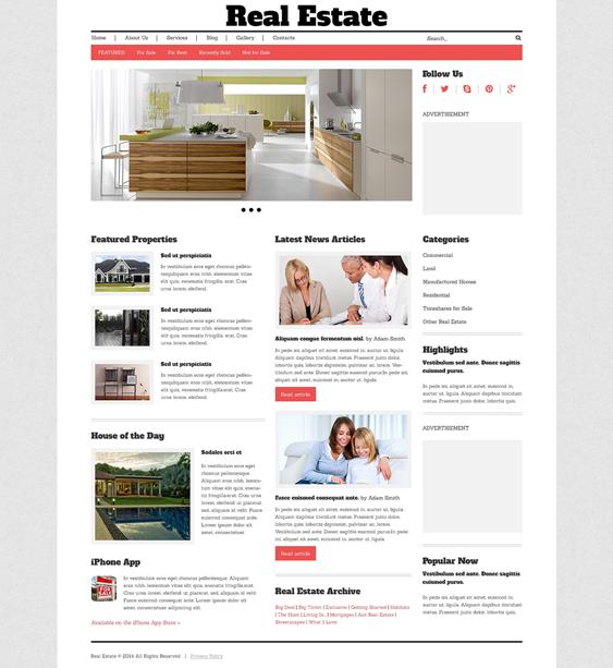 real estate wordpress themes 5