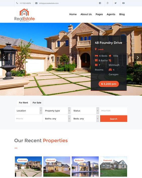 real estate pro wordpress themes