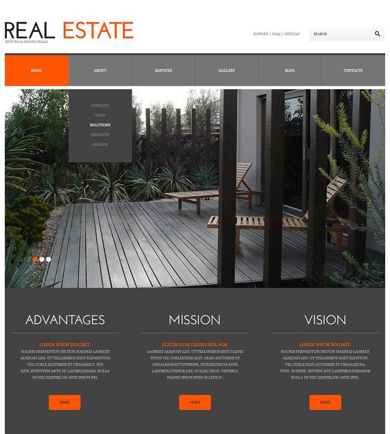 real estate wordpress themes responsive
