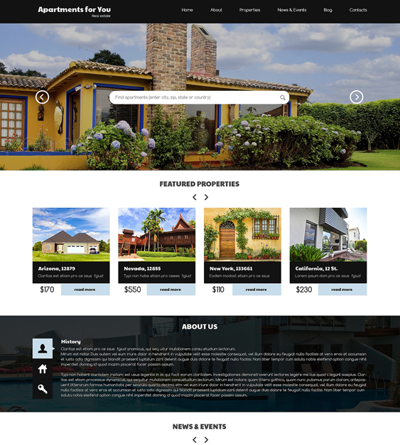 rent buy real estate wordpress themes