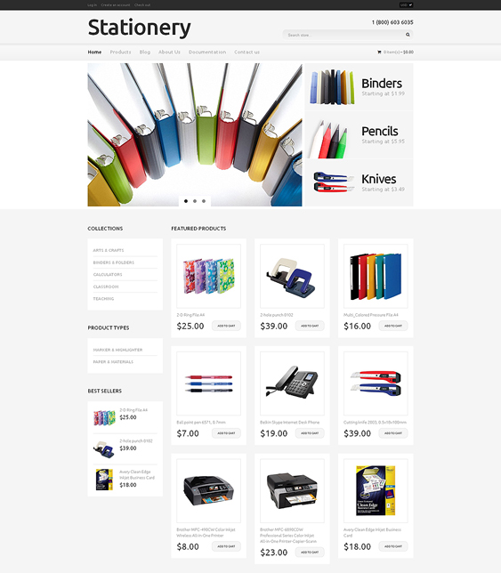 stationery shopify themes