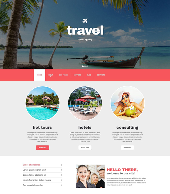 travel drupal themes agency