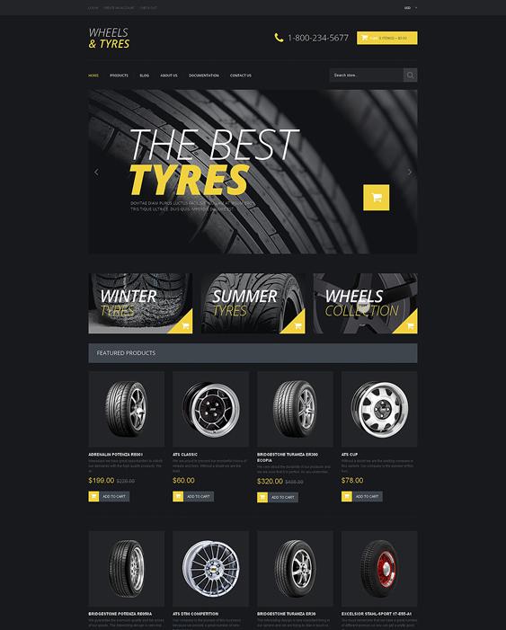 wheels dark shopify themes
