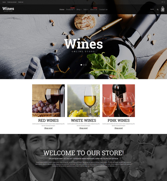 wine food drink shopify themes