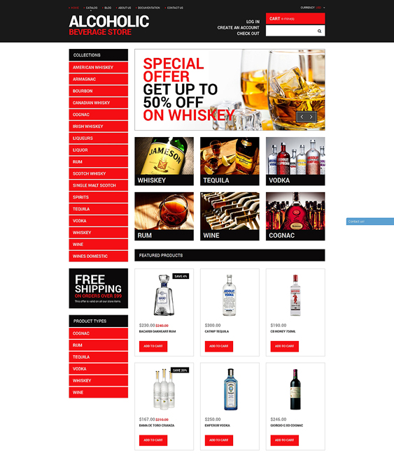 your food drink shopify themes