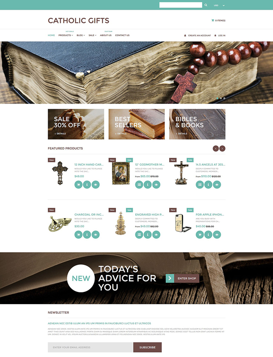 catholic responsive shopify themes