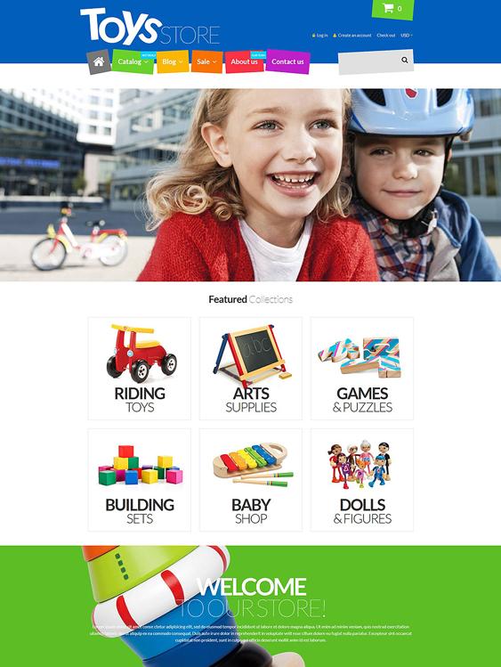 fun toys kids shopify themes