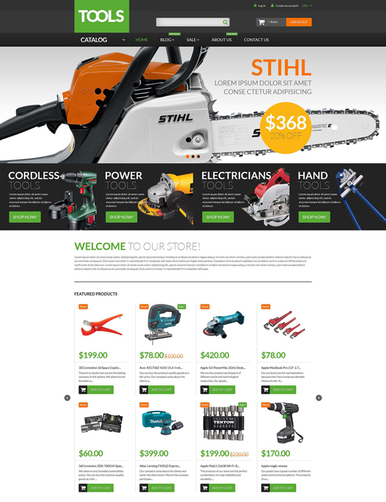 tools hardware store shopify themes