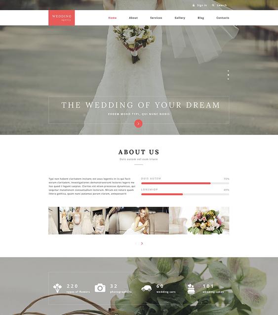 wedding drupal themes agency
