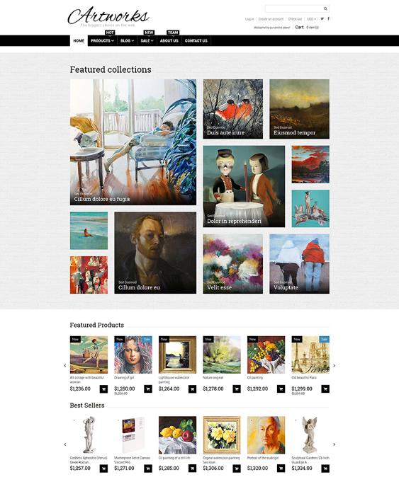 art store shopify themes