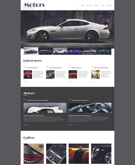 automobile car vehicle automotive wordpress themes