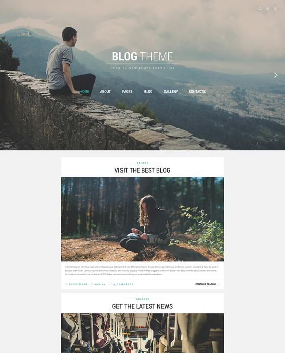 blog travel tourism joomla templates