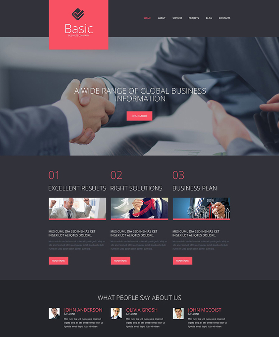 business dark wordpress themes