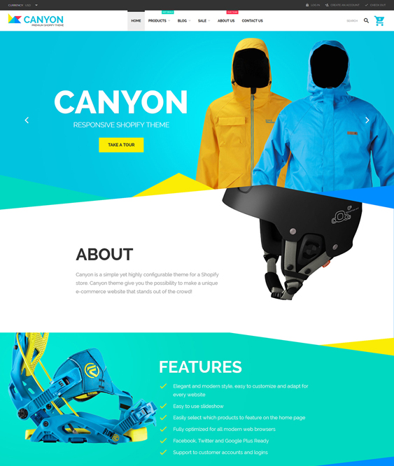 canyon responsive shopify themes