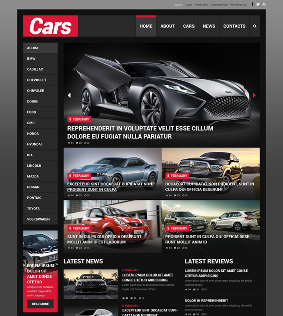 car vehicle automotive wordpress themes 1