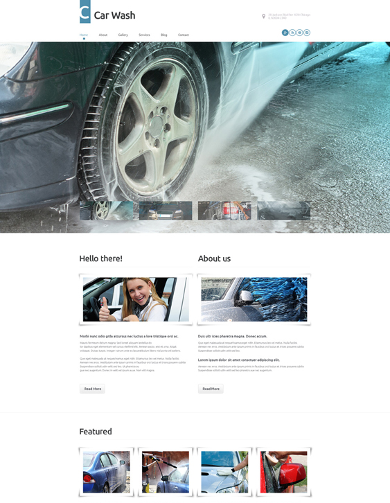 car vehicle automotive wordpress themes wash