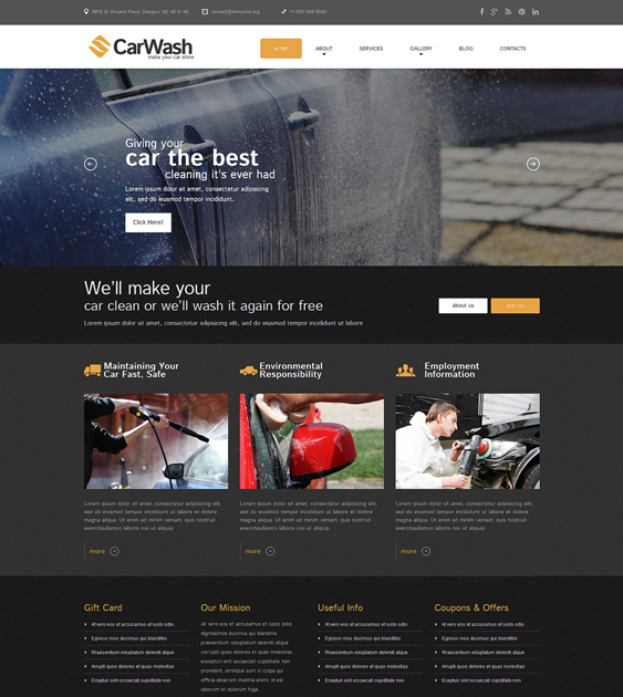 car wash3 dark wordpress themes