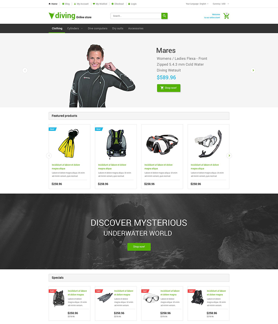 deep sports fitness magento themes