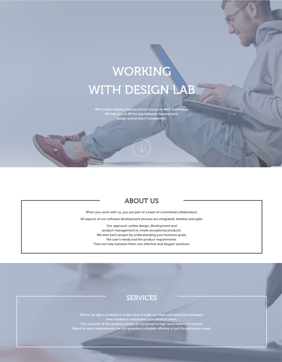 design lab parallax wordpress themes