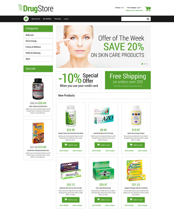 drugstore medical magento themes