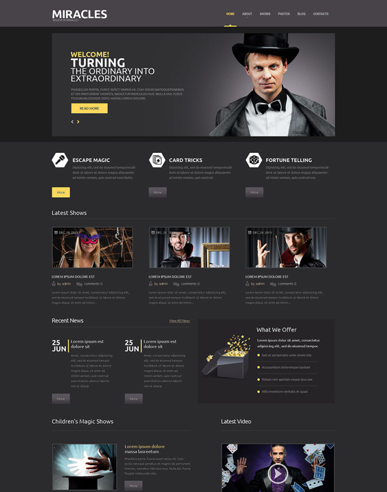 entertainment dark wordpress themes