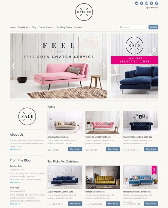 expression furniture shopify themes