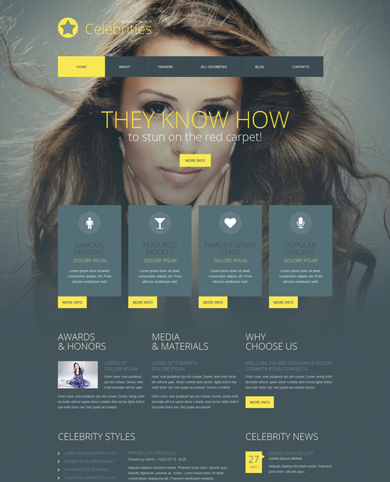 fashion dark wordpress themes