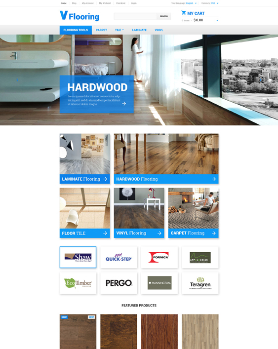 flooring hardware home improvement magento themes