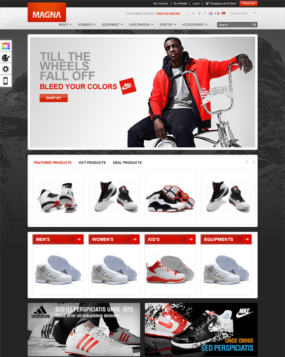 gala magna sports fitness magento themes