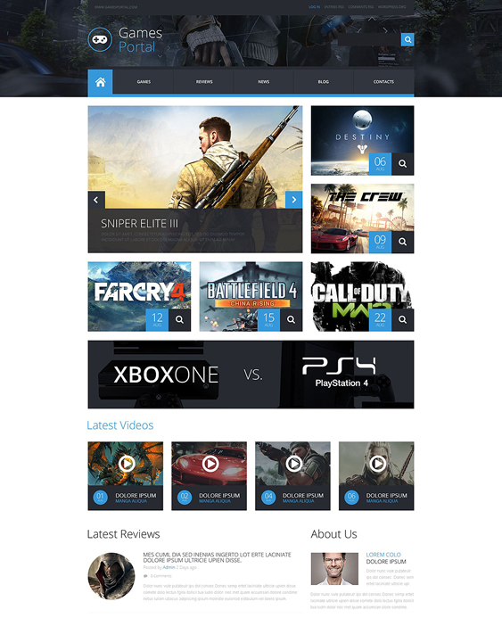 game portal gaming wordpress themes 1