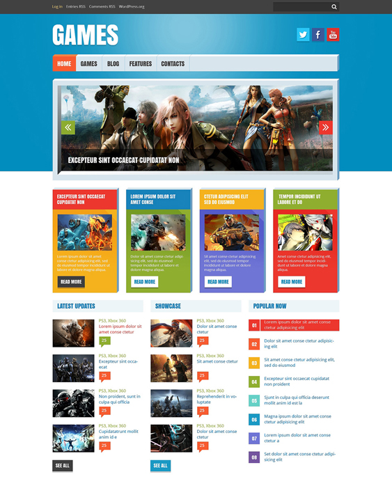 game reviews gaming wordpress themes