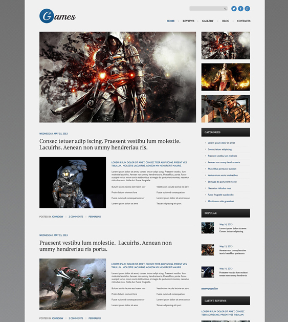 games gaming wordpress themes