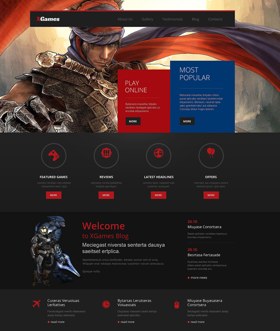 games gaming wordpress themes 1