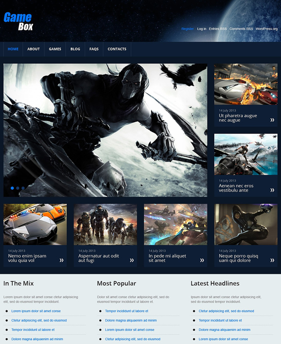 games gaming wordpress themes 3