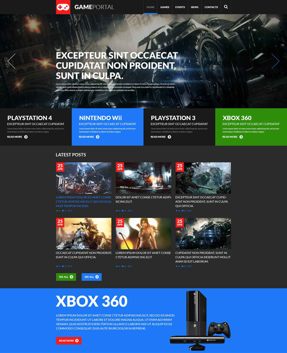 gaming dark wordpress themes