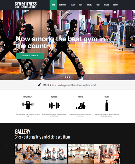 gym fitness wordpress themes sports