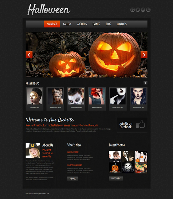 halloween dark wordpress themes