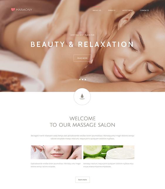 harmony beauty salon spa joomla templates