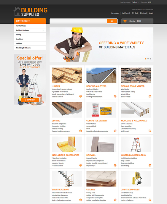 home repairs hardware home improvement magento themes