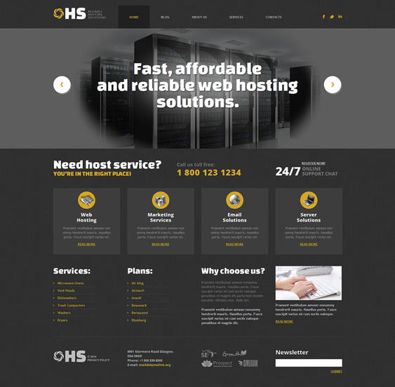 web hosting wordpress themes 2