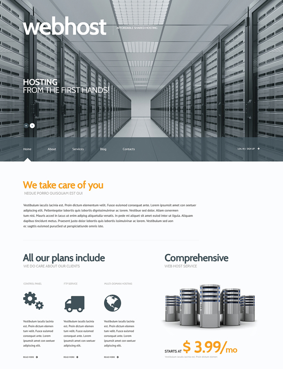 web hosting wordpress themes 3