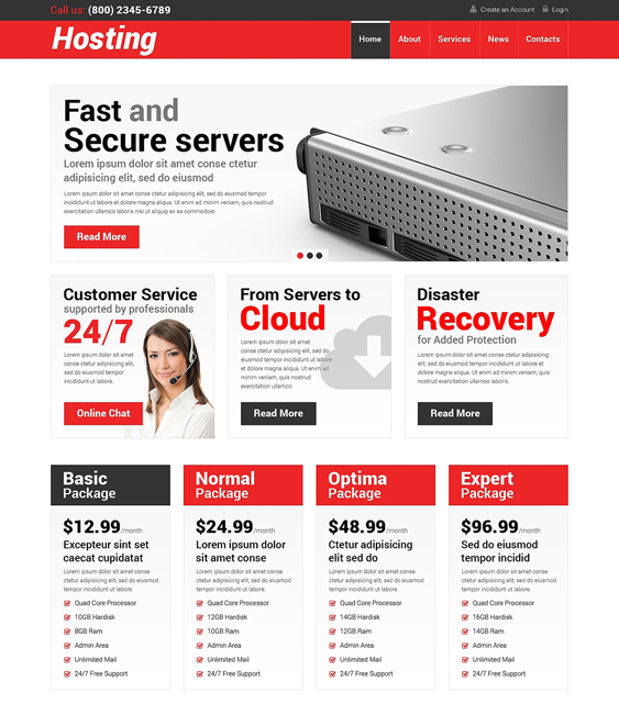 web hosting wordpress themes responsive