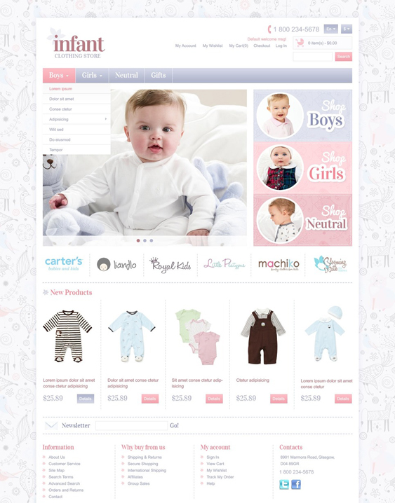 infant1 kids magento themes
