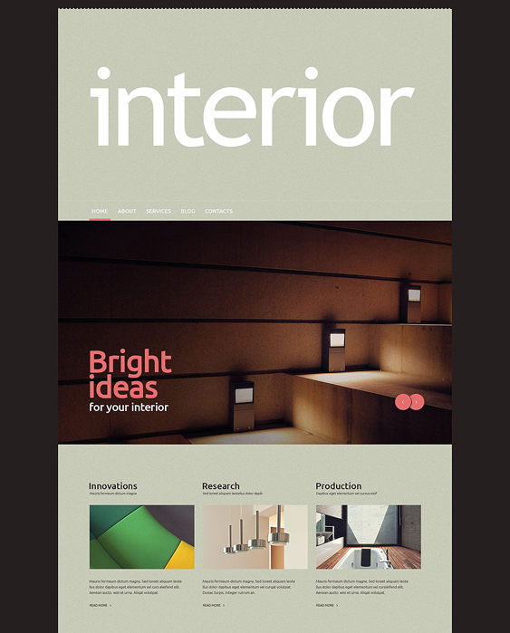 interior design wordpress themes 1