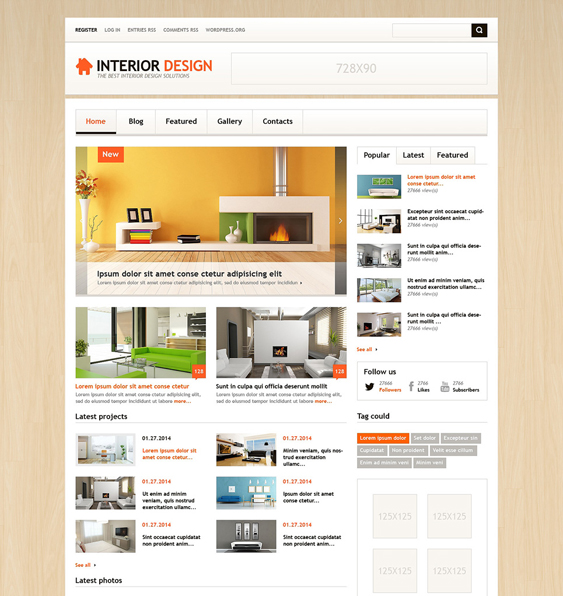 interior design wordpress themes 8