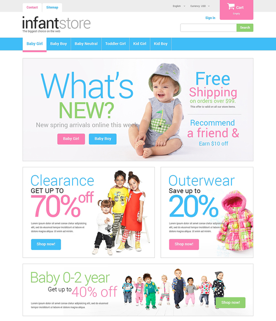 just for kids prestashop themes
