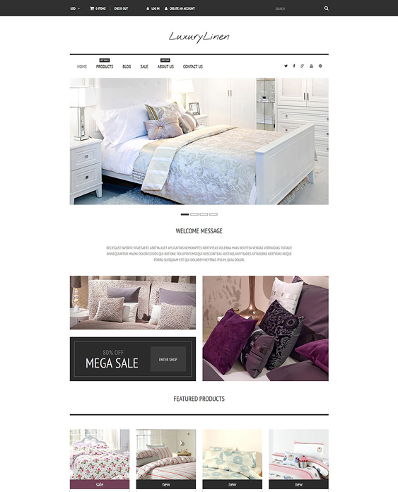 linen home decor interior design shopify themes