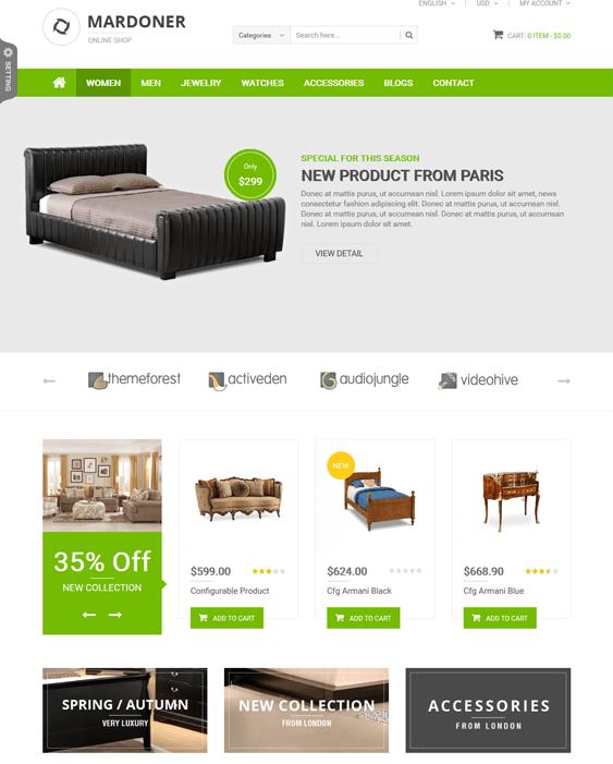mardoner furniture magento themes